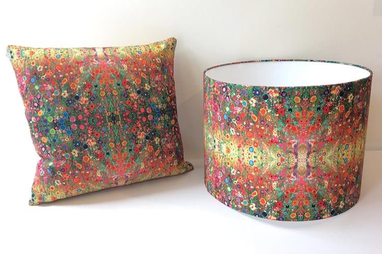 Handmade Cushion and Lampshade Gift Set