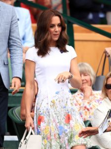 Kate Middleton in a wild flower floral dress at Wimbledon