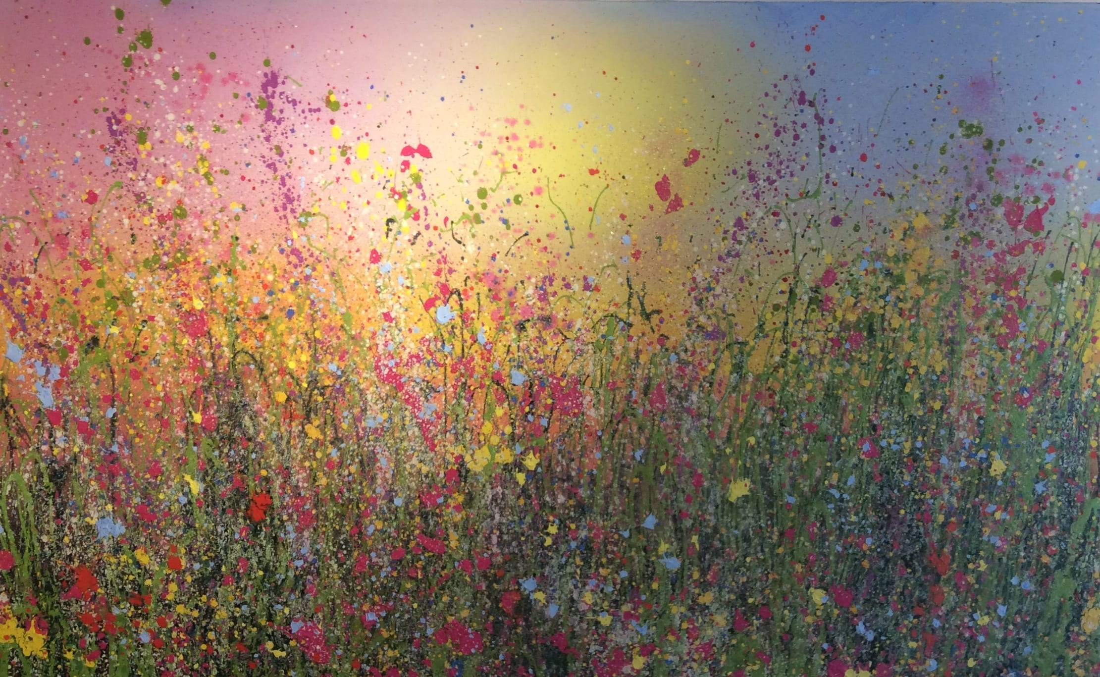 Wild Meadows of My Heart Flower Painting